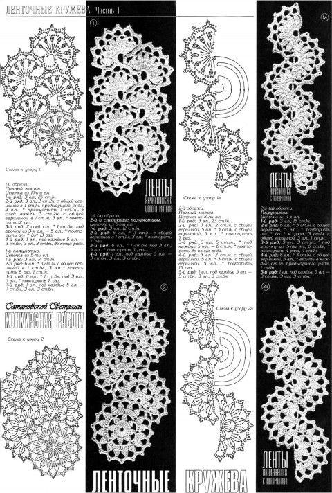 Кружево схемы с описанием