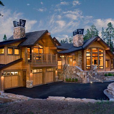 Luxury mountain home mountain home pinterest for Luxury mountain home plans