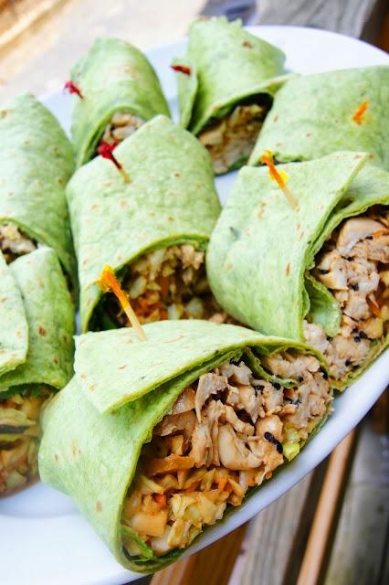 headtones: Thai Chicken Wraps | Food recipes | Pinterest