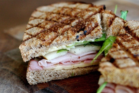 ham and cheese sandwiches with pear | cook | Pinterest
