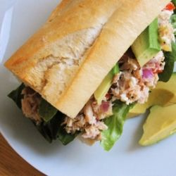 Tuna Salad Sandwich made with Preserved Meyer Lemons (from three weeks ...
