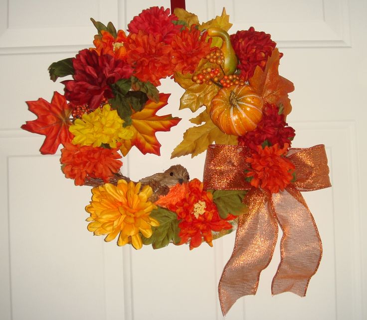Just finished this Fall  Wreath for my good friend, Maggie's birthday on the 14th!
