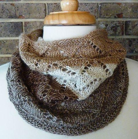 Free Knitting Pattern For Eyelet Cowl : FREE KNITTING PATTERN LACE COWL - VERY SIMPLE FREE KNITTING PATTERNS