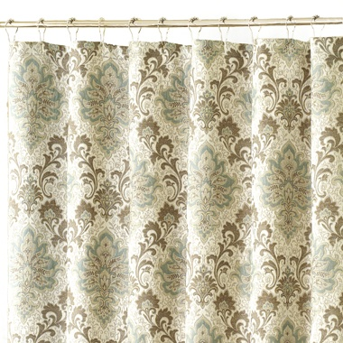 Blue Beige Damask Shower Curtain For The Home Pinterest