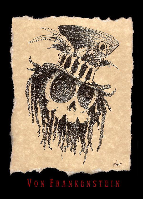 Voodoo Skull by  SVonFrankesntein on deviantARTsvonfrankesntein    Voodoo Skull Drawing
