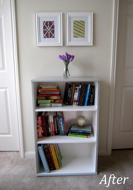 two-tone bookshelf