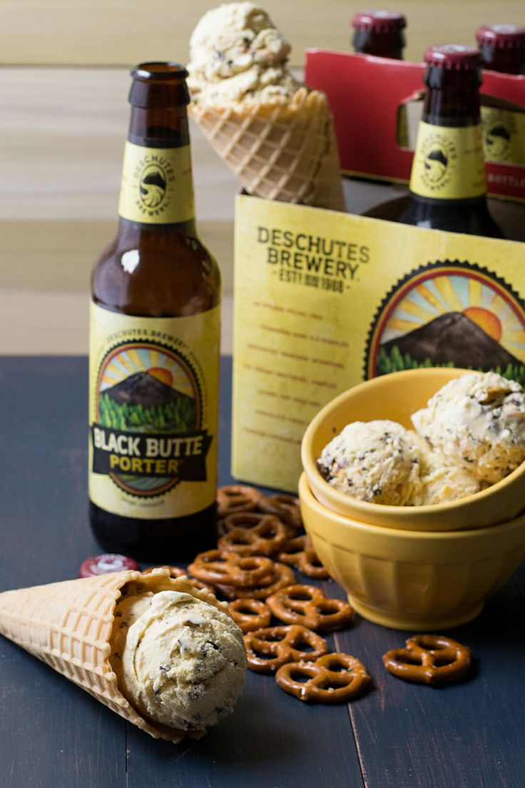 Beer & Chocolate-Covered Pretzel Ice Cream | siftandwhisk.com