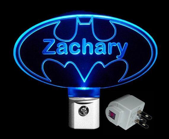 Personalized Batman Led Night Light Customized With Name