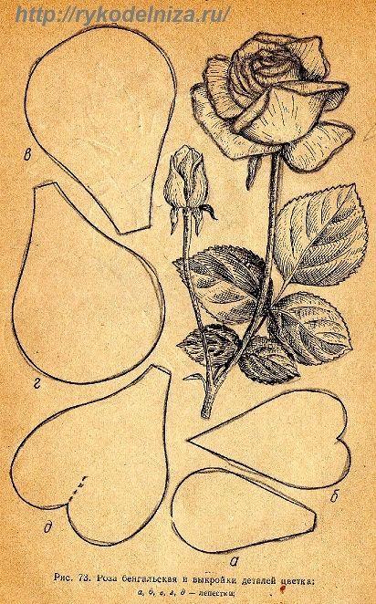 Цветы из ткани своими руками схемы