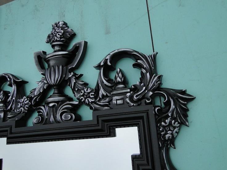 Large Ornate Vintage Mirror Wall Mirror Silver Ornate ...