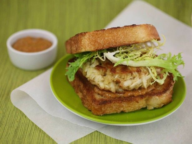 ... seafood-inspired burger, like this Crab Burger with Frisee Salad
