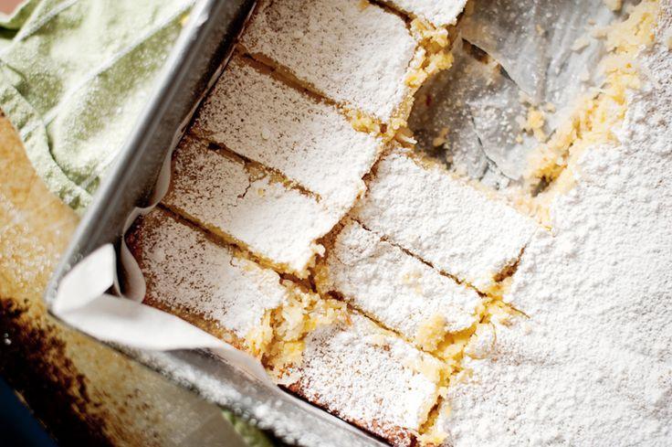 Gluten-Free Lemon & Coconut Bars » thelittlewhitekitchen.com