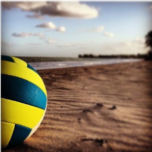 Beach Volleyball and sunsetBeach Volleyball Sunset