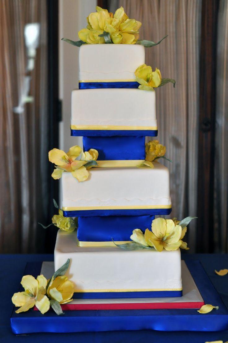 Maize and Blue Cake  Cake Decorating  Pinterest ~ 141838_Yellow Cake Decoration Ideas