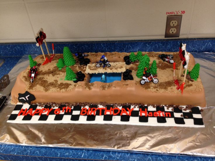 Cake Decorating Dirt Bike Track : Large Dirt bike track cake party ideas Pinterest