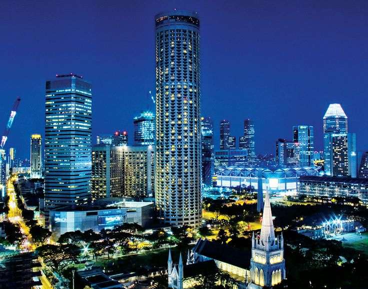 Swiss tel the stamford standing tall at the civic for Tallest hotel in singapore