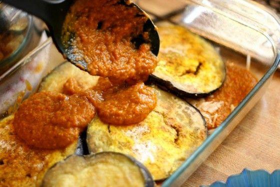 Eggplant Curry with Cucumber-Yogurt Sauce