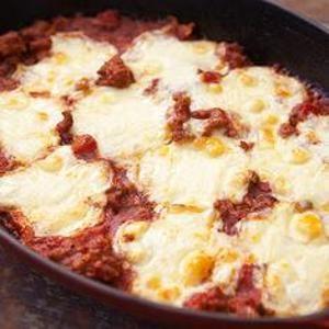 Polenta Sausage Mozzarella Casserole   Recipes   Pinterest