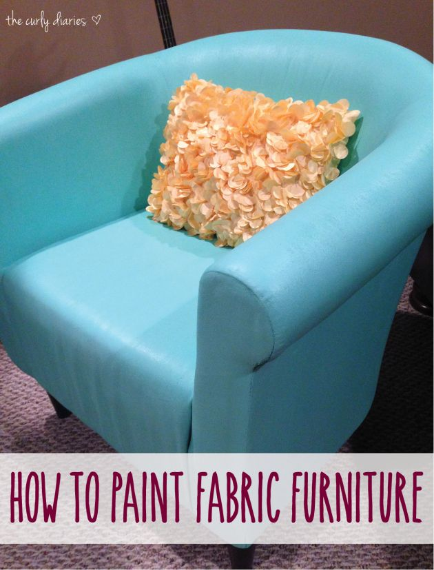 how to paint fabric furniture. Black Bedroom Furniture Sets. Home Design Ideas
