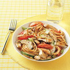 Asian Sesame Noodles with Chicken | Food | Pinterest