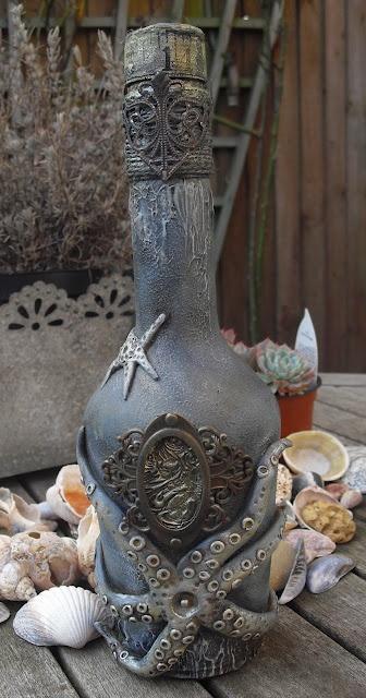 Я люблю полимерной глины Осьминога в этот океан вдохновил бутылка изменен ~ neelz Expressionz