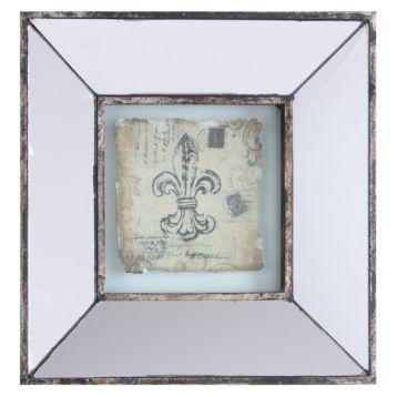 Mirrored Fleur De Lis I Framed Art Print Wall Hangings
