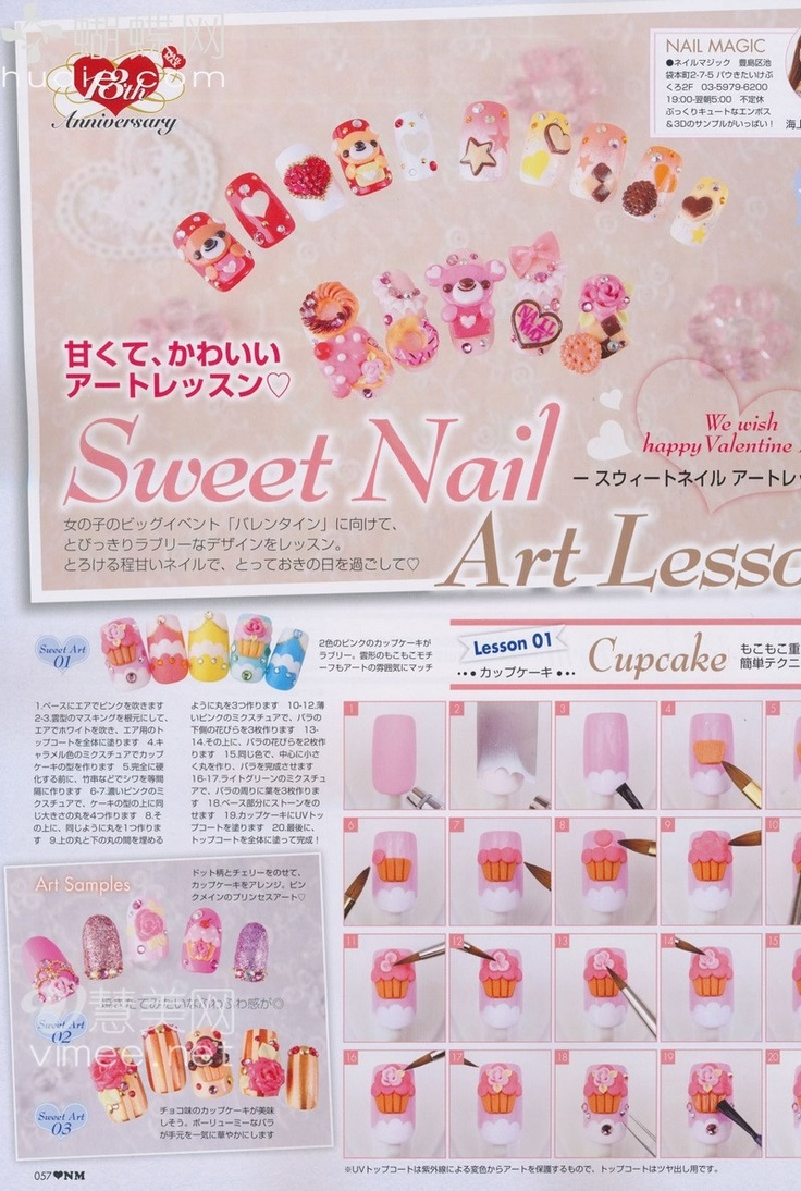 sweet nail art lesson