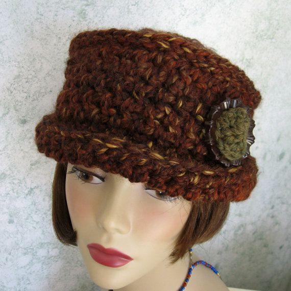 Womens Crochet Hat Pattern With Brim And Large Trim Piece ...