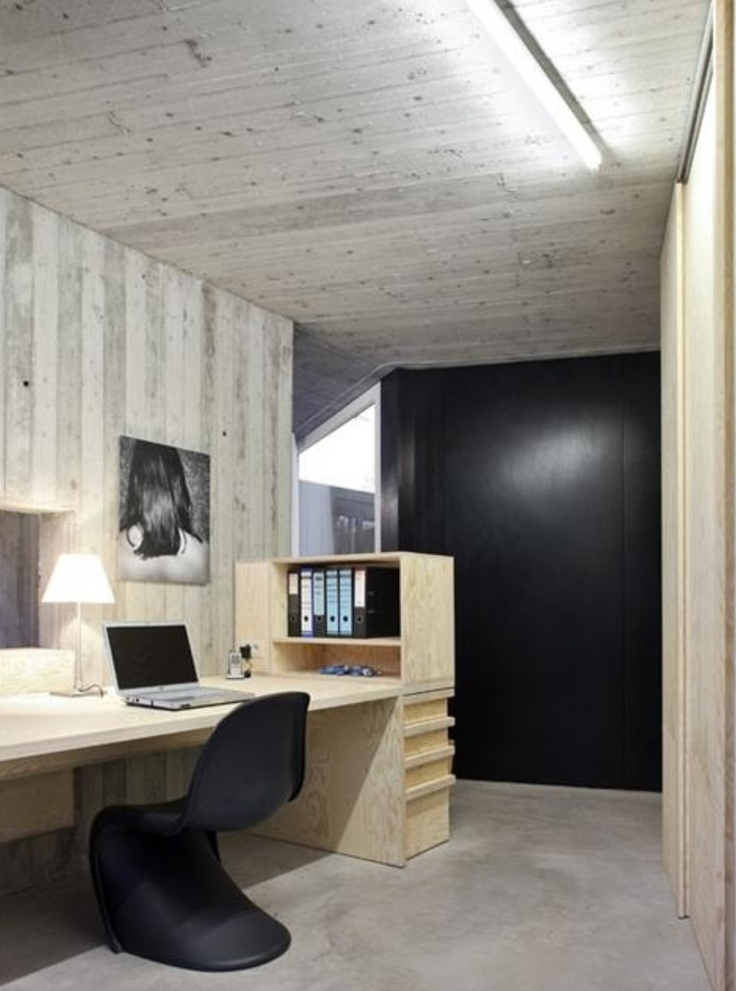 Pale Timber Modern Rustic Office