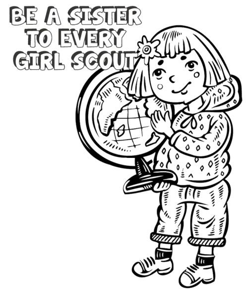 daisy girls scouts coloring pages - photo #24