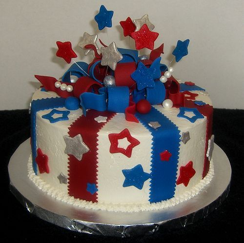 fourth of july party cakes | Fondant Covered Cakes Happy 4th of July