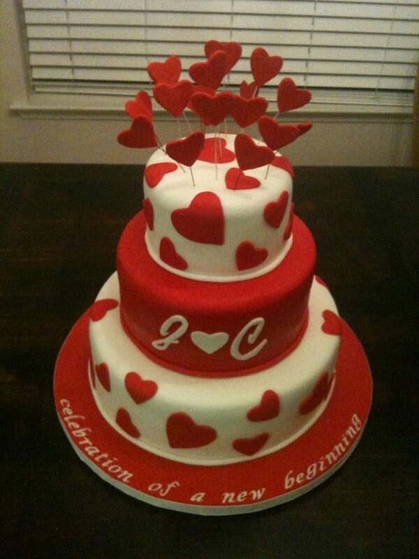 valentine's day cake roll