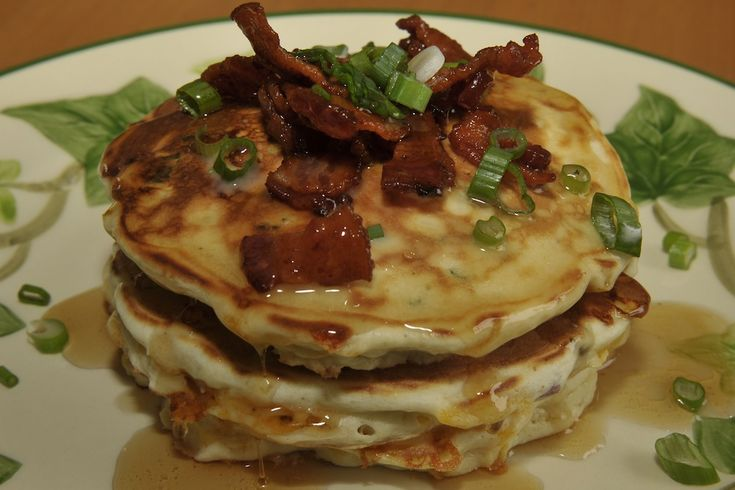 Bacon & Corn Griddle Cakes | Rise 'n Shine! | Pinterest