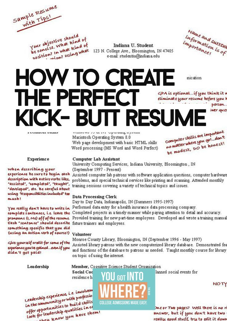 Learn How to Create a College Admissions Resume