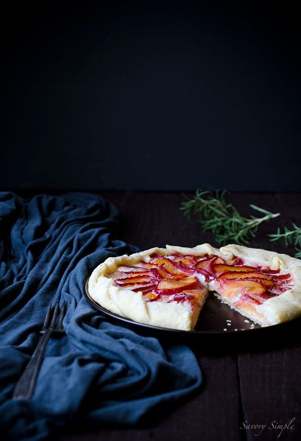 Plum galette with mascarpone and rosemary from Savory Simple by ...