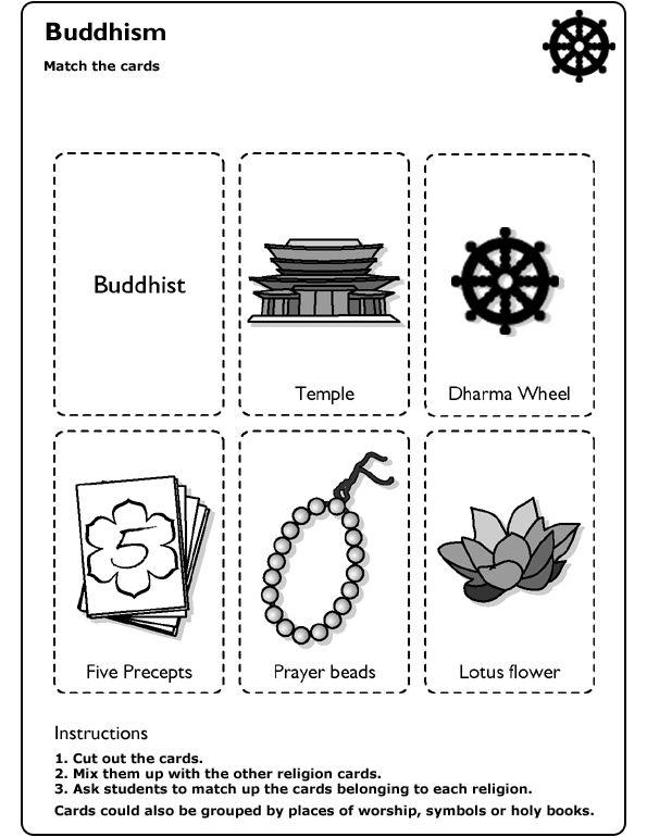 bbc schools religion worksheet buddhism for kids pinterest. Black Bedroom Furniture Sets. Home Design Ideas