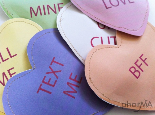 Conversation Heart Pouches