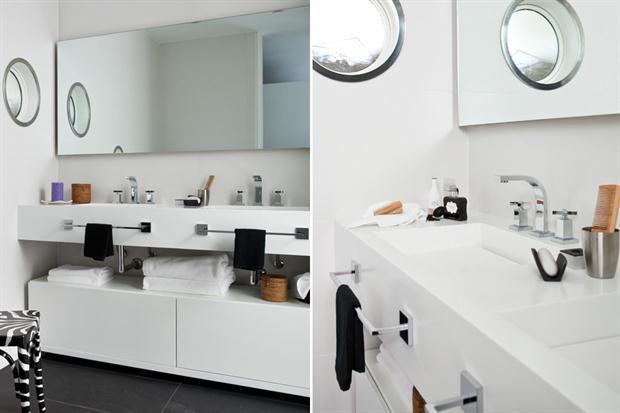 Bachas Para Baño Pequeno:bacha con estante abajo