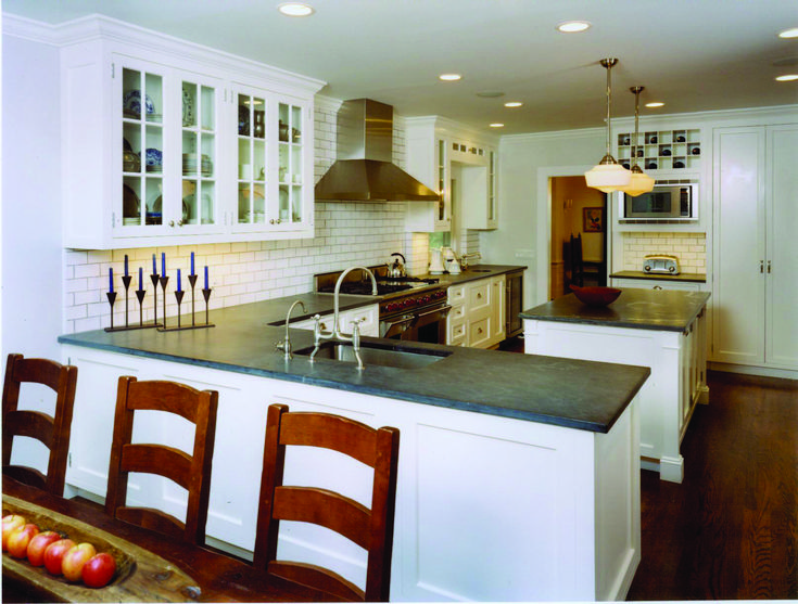 Peninsula with no counter overhang kitchens pinterest for Peninsula kitchen layout