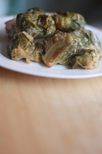 Dijon-Braised Brussels Sprouts (omg) | vegan recipes | Pinterest