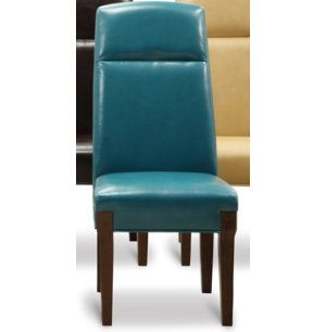 Teal Parsons Chair Turquoise Home Accents
