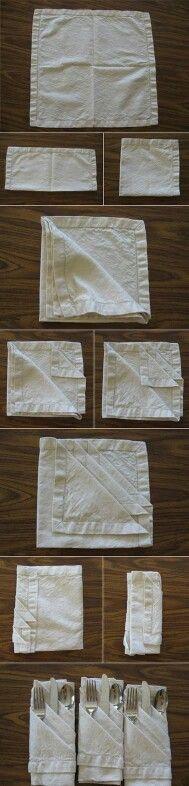 Idea para presentar los cubiertos en la mesa