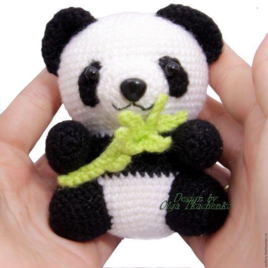 Вязание игрушки панды крючком 74