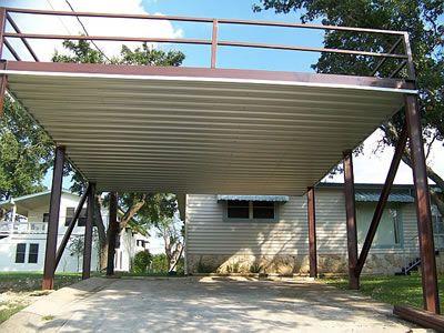 Steel Frame Carport Deck Firehouse Ideas Pinterest
