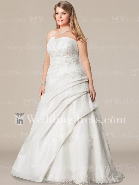 Style ps095 the day i am mrs krystal kay davis forever for 2nd marriage wedding dresses plus size