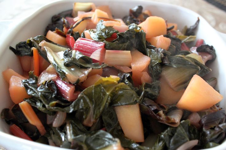 cider braised swiss chard with apples | (grain-free) savory | Pintere ...