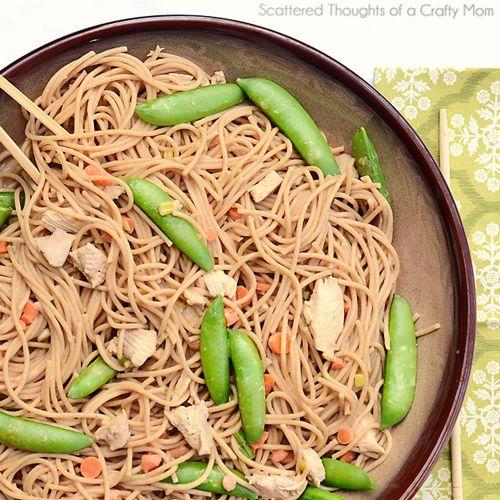 light peanut sesame noodles