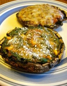 Baked and Stuffed Portobellos (2 Ways) | Favorite Recipes | Pinterest