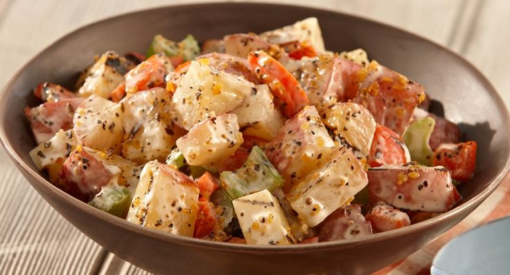 ... summertime potato salad by first grilling the potatoes and vegetables
