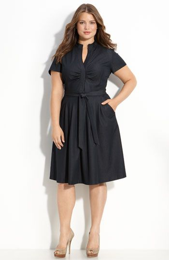 Tahari Woman 'Roma' Shirtdress (Plus)